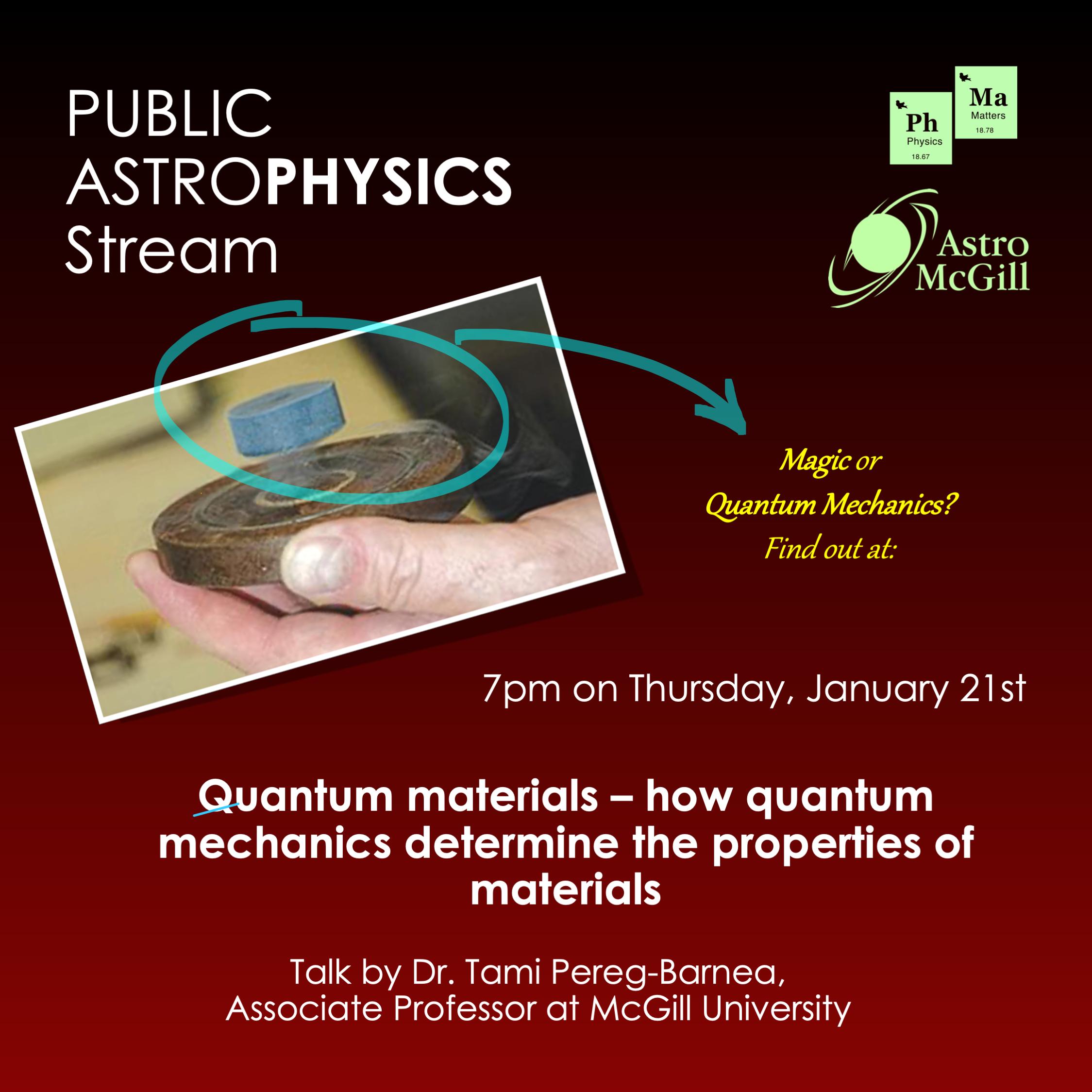 Quantum Materials - how quantum mechanics determine the property of materials