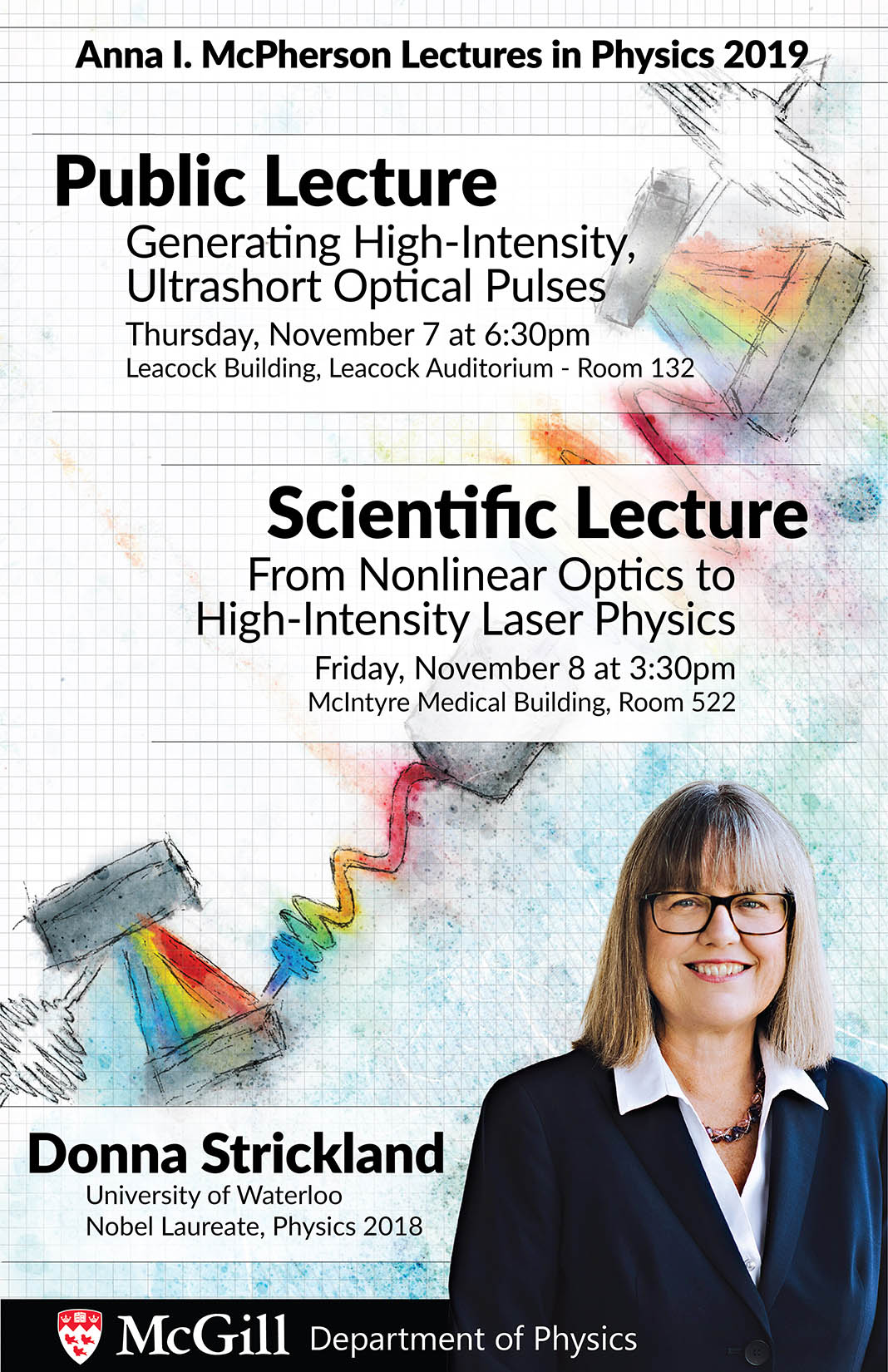 Public Lecture by Nobel Laureate Donna Strickland
