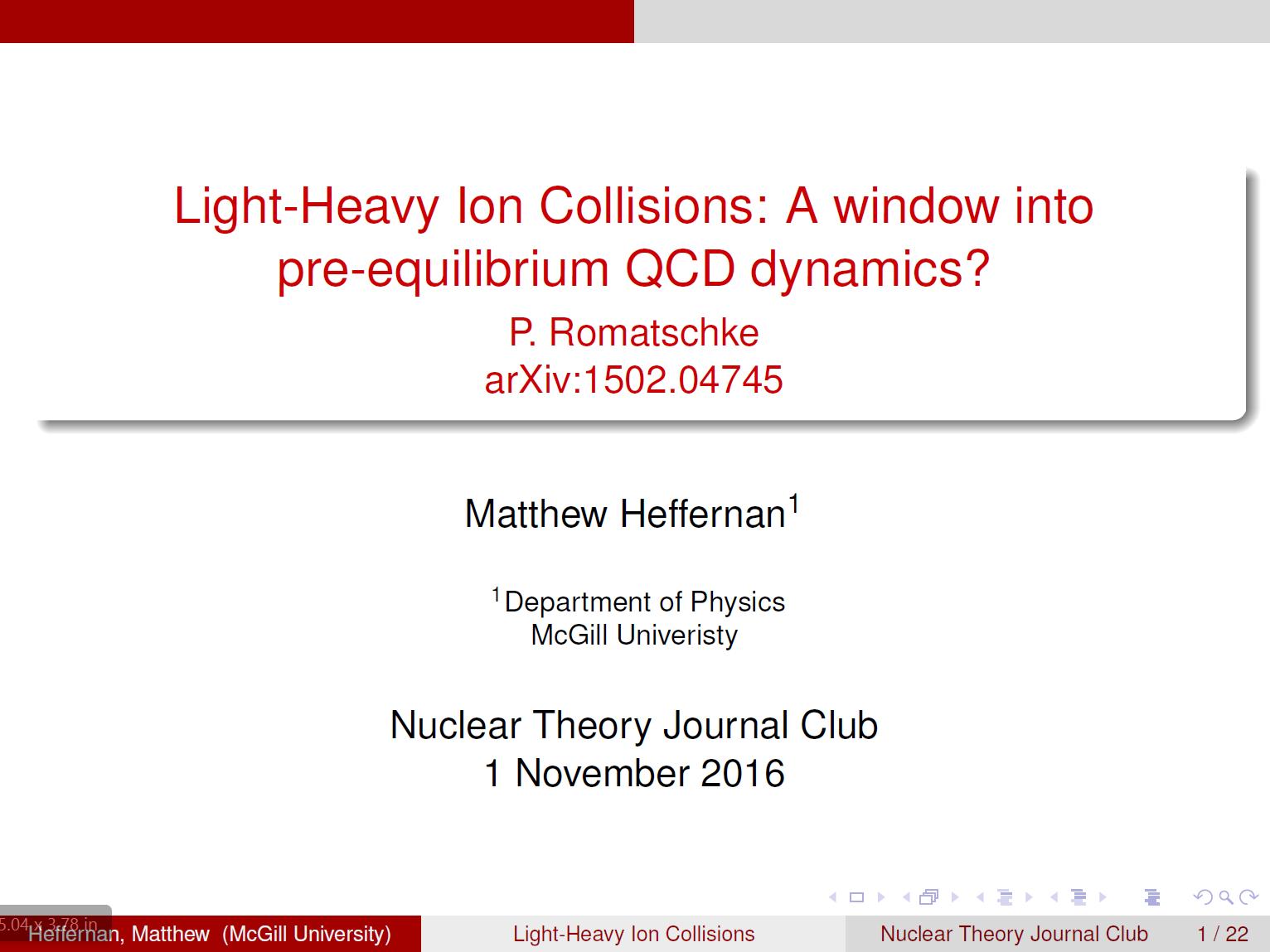 Matthew Heffernan | McGill University