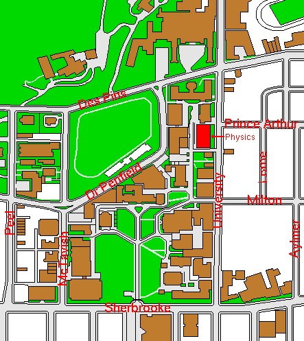 Mcgill Campus Map McGill Physics: General Information